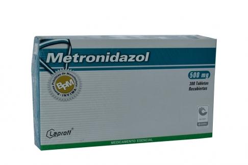 Metronidazol 500 mg Caja Con 300 Tabletas Rx2