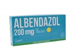 Albendazol 200 mg Caja X 50 Tabletas Rx