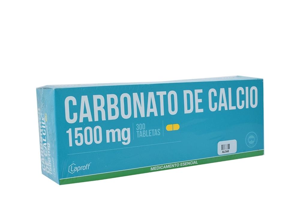 Carbonato De Calcio 1500 mg Caja Con 300 Tabletas