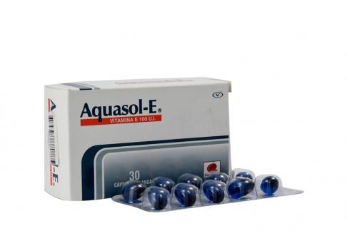 Aquasol E 100 U.I  Caja x 30 Cápsulas Blandas