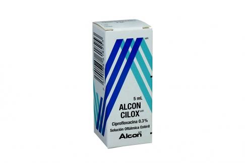 Alcon Cilox 0.3 % Solución Oftalmica Esteril Caja Con Frasco 5 mL Rx