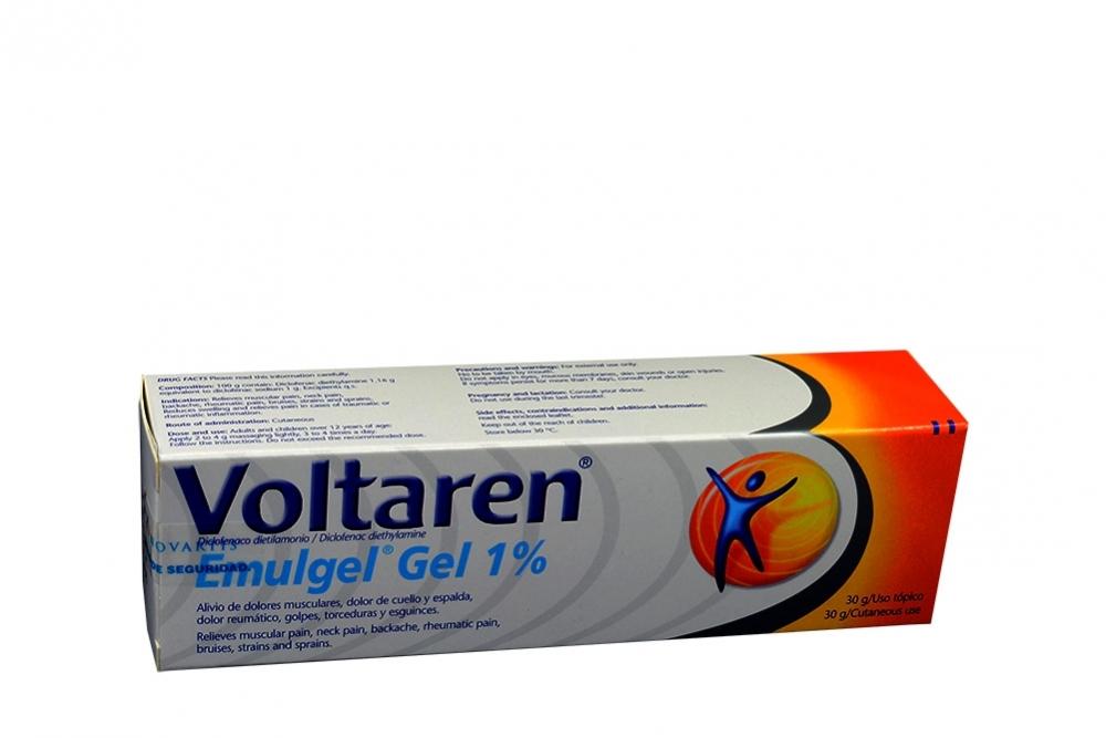 Voltaren Emulgel 1% Caja Con Tubo Con 30 g