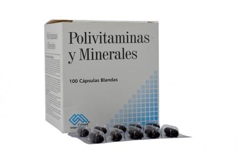 Polivitaminas Y Minerales Caja x 100 Cápsulas Blandas