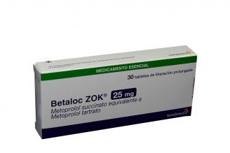 Betaloc Zok 25 mg Caja Con 30 Tabletas De Liberación Prolongada Rx4