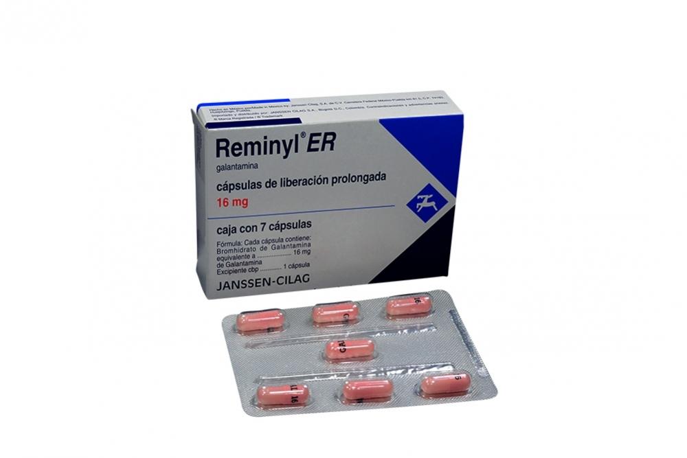 Reminyl ER 16 mg Caja Con 7 Cápsulas De Liberación Prolongada Rx1
