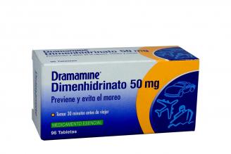 Dramamine 50 mg Caja Con 96 Tabletas