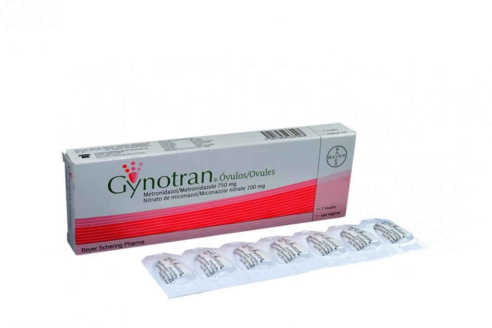 Gynotran Óvulos Vaginales Caja Con 7 Unidades Rx