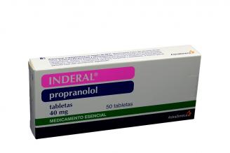 Inderal 40 mg Caja Con 50 Tabletas RX