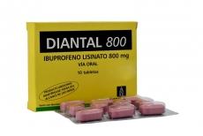 Diantal 800 mg Caja Con 10 Tabletas Rx