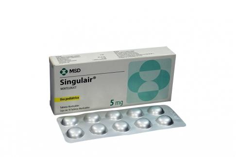 Singulair 5 mg Caja Con 10 Tabletas Rx