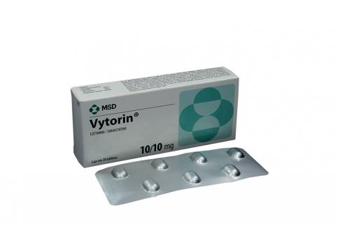 Vytorin 10 / 10 mg Caja Con 28 Tabletas Rx