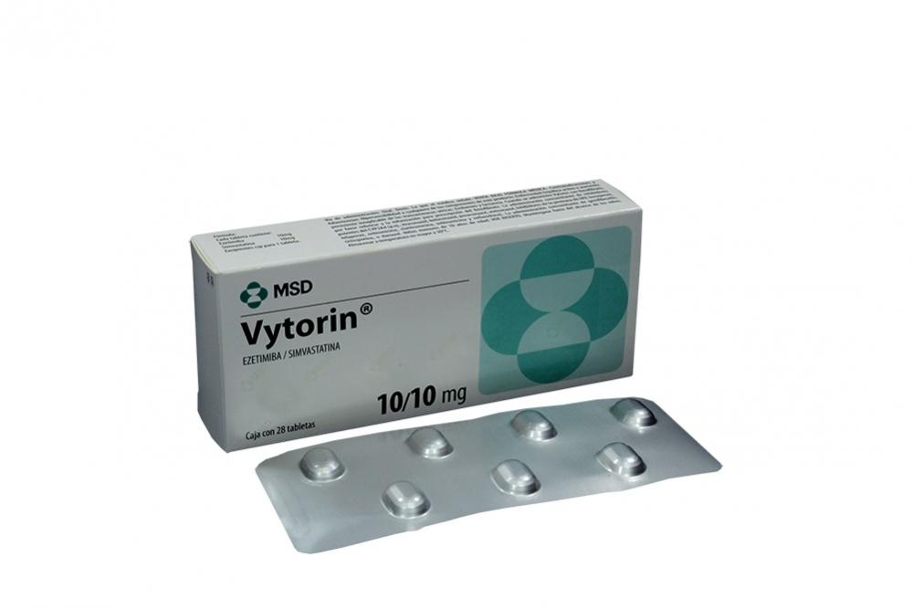 Vytorin 10 / 10 mg Caja Con 28 Tabletas Rx Rx1
