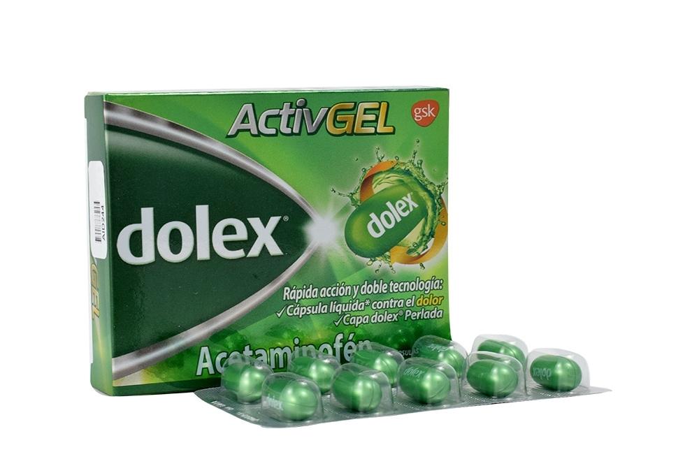 Dolex Activgel 500 mg Caja Con 10 Cápsulas Liquidas
