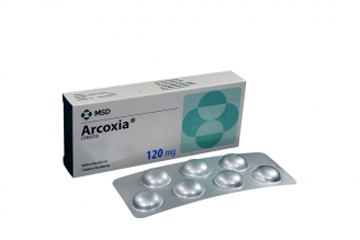 Arcoxia 120 mg Caja x 7 Tabletas Recubiertas Rx