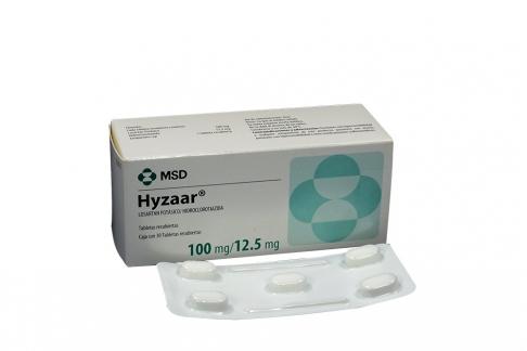 Hyzaar 100 / 12.5 mg Caja Con 30 Tabletas Recubiertas Rx