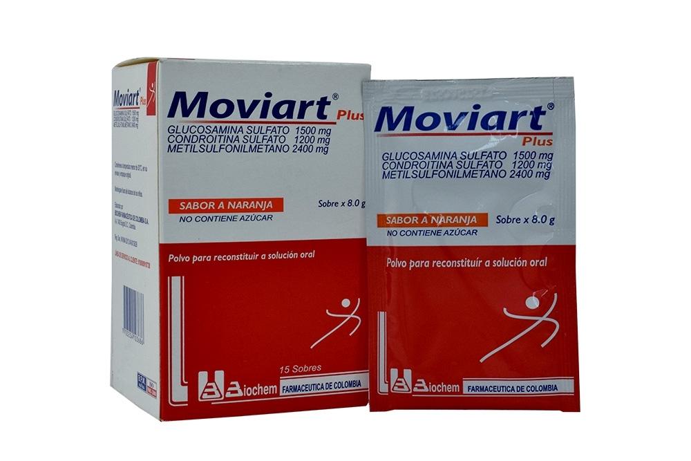 Moviart Plus Polvo Para Reconstituir Caja Con 15 Sobres 8 g - Sabor Naranja Rx4