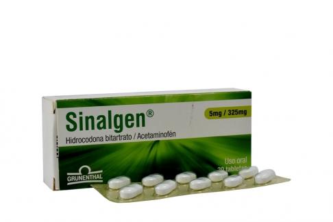 Sinalgen 5 / 325 mg Caja Con 30 Tabletas Rx