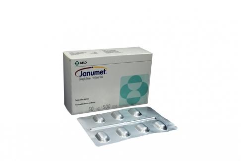 Janumet 50 / 500 mg Caja Con 28 Tabletas Recubiertas Rx4
