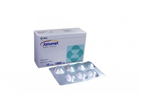 Janumet 50 / 1000 mg Caja Con 28 Tabletas Recubiertas Rx4