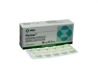 Hyzaar 50 / 12.5 mg Caja Con 30 Tabletas Recubiertas Rx