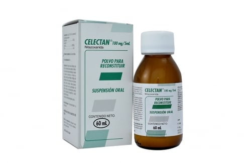Celectan 100 mg / 5 mL Caja Con Frasco Con Polvo Para Reconstruir Suspensión Oral 60 mL Rx