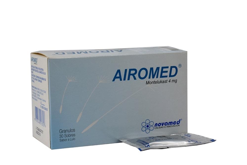 Airomed Gránulos 4 mg Sabor a Lulo Caja Con 30 Sobres Rx4