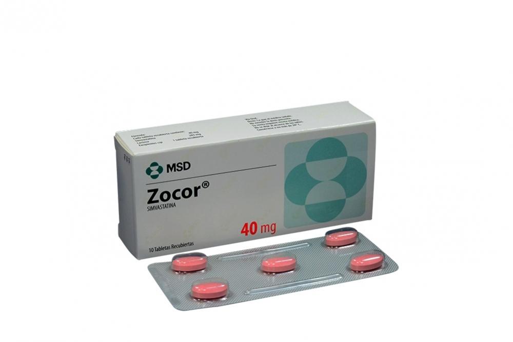 Zocor 40 mg Caja Con 10 Tabletas Rx4