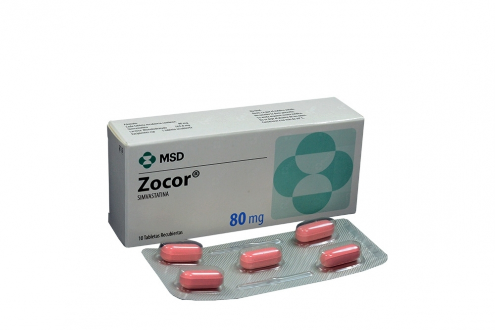 Zocor 80 mg Caja Con 10 Tabletas Rx4