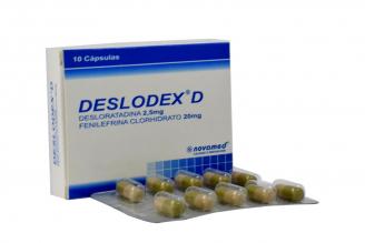 Deslodex D 2.5 mg / 20 mg Con Caja 10 Cápsulas Rx