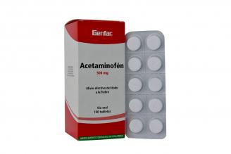 Acetaminofén 500 mg Caja Con 100 Tabletas