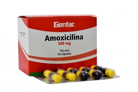 Amoxicilina 500 mg Caja x 50 Cápsulas RX2
