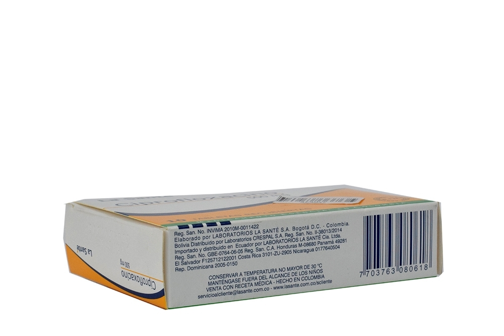 Comprar Ciprofloxacino 500 mg Caja Con 10 Tabletas En