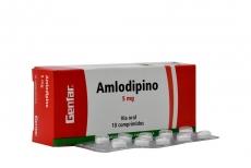 Amlodipino 5 mg Caja Con 10 Comprimidos Rx4