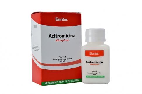 Azitromicina Polvo 200 mg / 5 mL Caja Con Frasco Con 15 mL Rx2