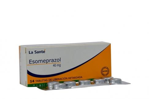 Esomeprazol 40 mg La Santé Caja Con 14 Tabletas Con Cubierta Énterica RX
