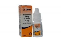 Dorzolamida 20 mg + Timolol 5 mg Caja Con Frasco Gotero Con 5 mL Rx4