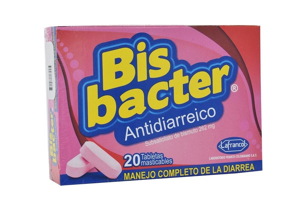 Bisbacter 262 mg Caja Con 20 Tabletas Masticables