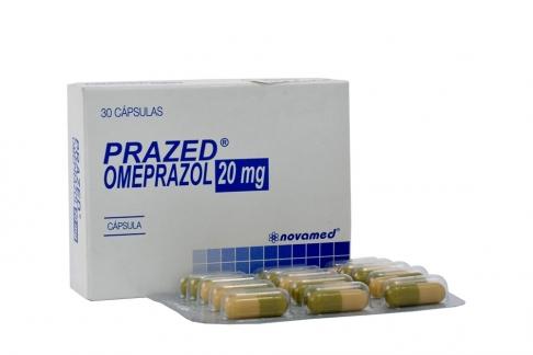 Prazed 20 mg Caja Con 30 Cápsulas Rx