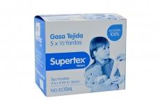 Supertex Gasa Tejida No Estéril Caja Con 1 Unidad Con 5 x ½ Yardas