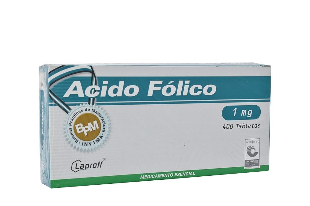 Ácido Fólico 1 mg Caja Con 400 Tabletas Rx