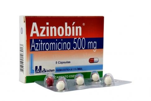 Azinobin 500 mg Caja Con 5 Cápsulas Rx2