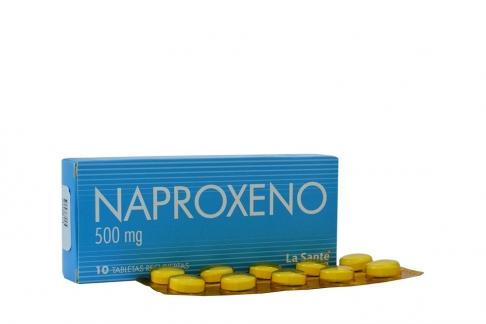 Naproxeno 500 mg Caja Con 10 Tabletas Recubiertas Rx