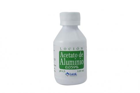 Loción Acetato De Aluminio 0.059% Frasco Con 120 mL