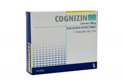 Cognizin 500 mg Caja Con 5 Ampollas De 2 mL Rx4