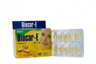 Biocar-E Vitamina E 400 UI Caja Con 30 Cápsulas Líquidas