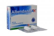Albendazol 200 mg AG Caja Con 2 Tabletas Rx