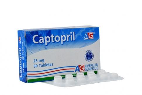 Captopril 25 mg Caja Con 30 Tabletas Rx4