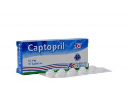 Captopril 50 mg Caja x 30 Tabletas Rx