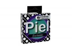 Condones Piel Excitante Caja Con 3 Unidades