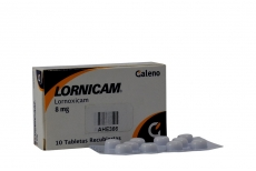 Lornicam 8 mg Caja x 10 Tabletas Recubiertas Rx